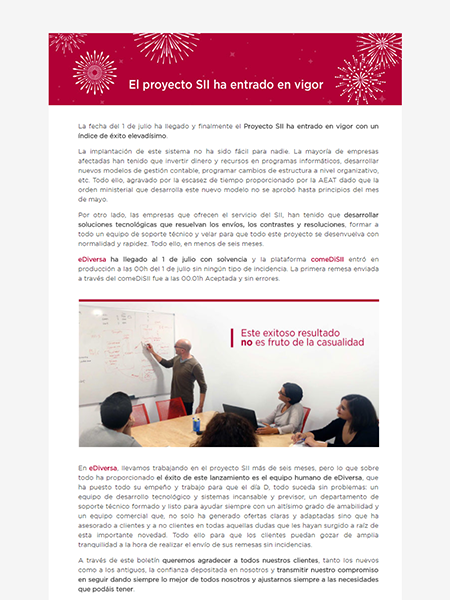 Fases del proyecto SII